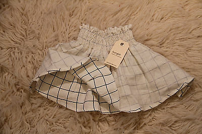 NWT Girls/toddler Boy + Girl linen skirt size 2t