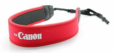 Shoulder Neck Strap for Canon DSLR anti-slip weight reducing neoprene - Red