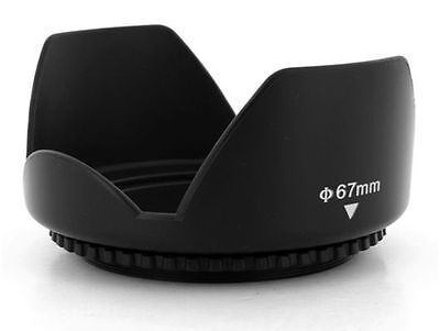 67mm Flower Petal Screw-On Lens Hood Canon Nikon Sony Olympus Pentax UK SUPPLIER