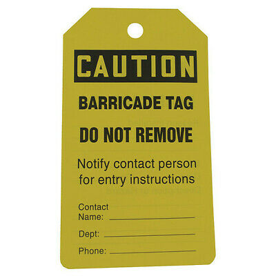 """Caution Tag, Accuform Signs, TAB105CTP, 5-3/4""""Hx3-1/4""""W"""