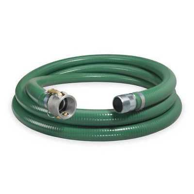 """ZORO SELECT 1ZMW5 1-1/2"""" ID x 20 ft PVC Discharge & Suction Hose GN"""