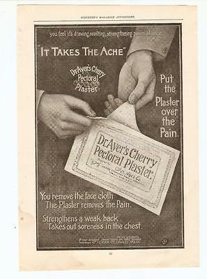Antique Original 1899 FULL PAGE Print Ad - Dr. Ayer's Cherry Pectoral Plaster