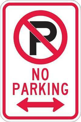 Sign,No Parking,18 x12 In LYLE T1-1058-EG_12x18