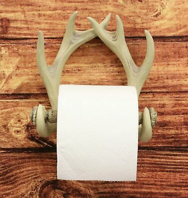 Wildlife Deer 10 Point Buck Antlers Nature Calls Toilet Paper Holder Figurine