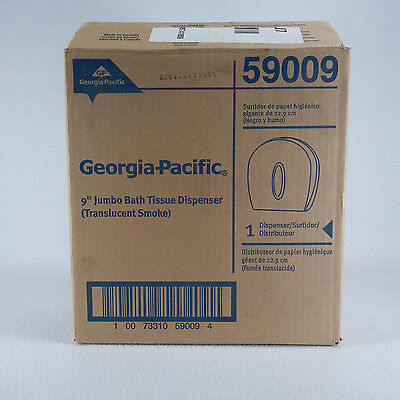 "NEW Georgia-Pacific 9"" Jumbo Tissue Dispenser #59009 Translucent Grey Ships FAST"