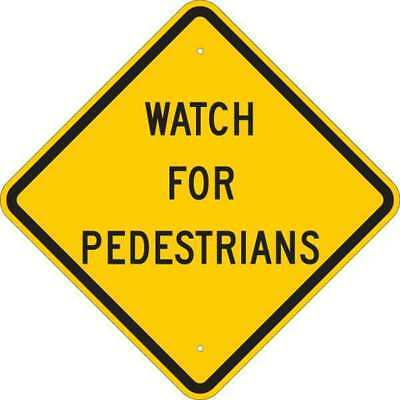 Traffic Sign,18 x 18In,Black/Yellow BRADY 124604