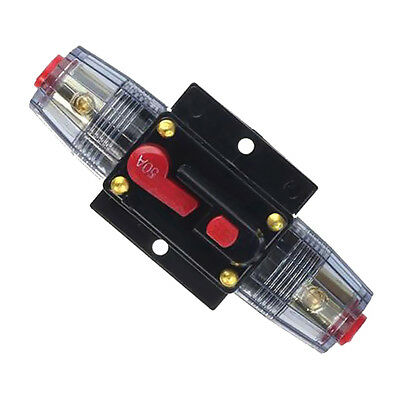 12V DC Car Audio Inline Circuit Breaker Fuse for System Protection 50 AMP