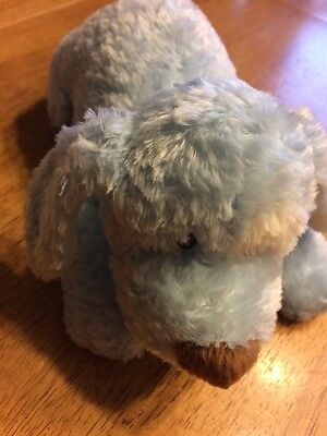 "Baby Gund Plush My First Puppy Soft Blue Toy 5765 10"" Long Brown Nose"