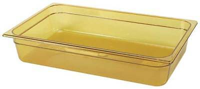 RUBBERMAID FG231P00AMBR Full Size Food Pan, Hot, Amber