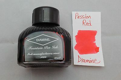 Diamine 80ml Fountain Pen Bottled Ink Passion Red