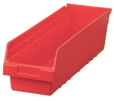 "Red Shelf Bin, 23-5/8""L x 6-5/8""W x 6""H AKRO-MILS 30094RED"