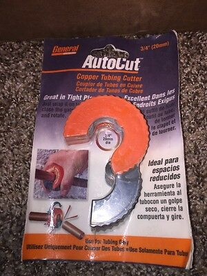 "General Wire Spring AutoCut 3/4"" Copper Tubing Cutter ~ Brand New ~ Only $18.95"