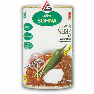 Markfed Sohna - Sarson Ka Saag (Curried Mustard leaves) - 850 gm