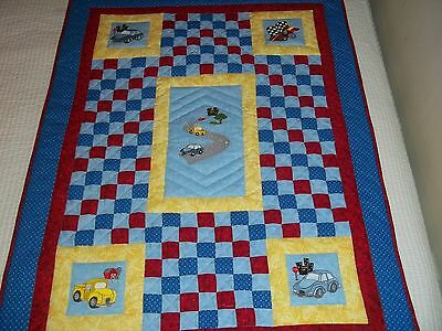 New Handmade Baby Girl Boy Quilt Bedding  Machine Embroidered Patchwork Cars