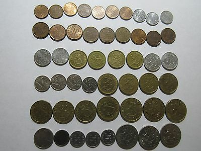 Lot of 50 Different Old Finland Coins - 1953 to 1995 - Circulated & Uncirculated