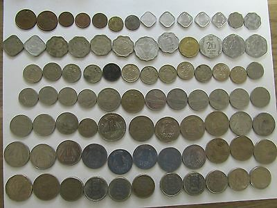 Lot of 84 Different Old India Coins - 1951 to 2003 - Circulated & Uncirculated