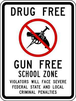 LYLE DF-026-12HA School Zone Sign,18 x 12In,R and BK/WHT