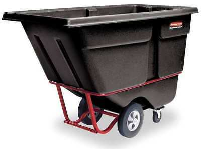 RUBBERMAID FG130600BLA Tilt Truck,Heavy-Duty,1/2 cu. yd,1400 lb