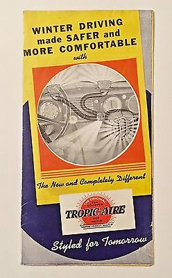 Tropic Aire Car Heater 1937 Ad Promotional Brochure