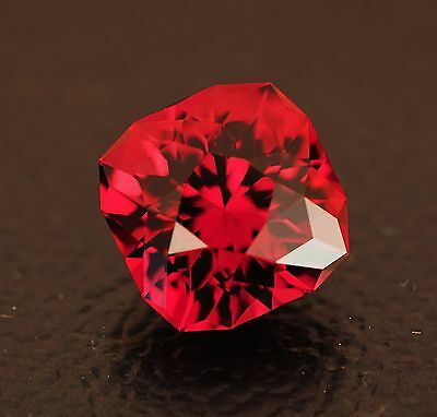 Rhodolite Garnet - Deep Vibrant Red - 4.27 Carat - Natural - Precision Cut