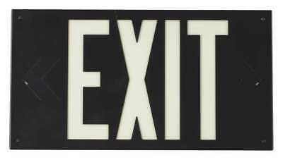 Exit Sign,8-1/4 x 15In,WHT/BLK,Exit,ENG