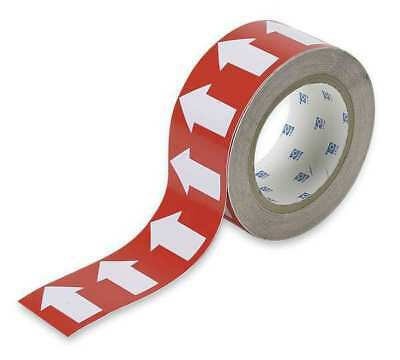 Arrow Tape,White/Red,1 In. W,90 ft. L BRADY 91426