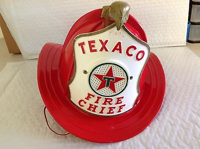 "Vintage Texaco ""fire Chief"" Childs Fire Helmet"