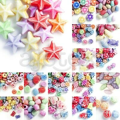 30g Acrylic Beads Flower/Animal/Star/Butterfly/Tube/Cube/Oval/Round Jewelry