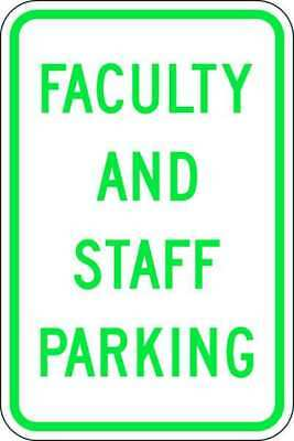 Parking Sign,18 x 12In,GRN/WHT,Text ZING 2502