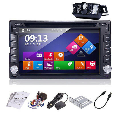 "6.2"" Touch Screen Double 2 DIn Car Stereo DVD/CD Player with Radio Ipod GPS+CAM~"
