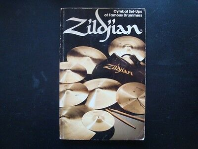 Zildjain 1980 Cymbal Set-Ups of Famous Drummers FREE SHIPPING!