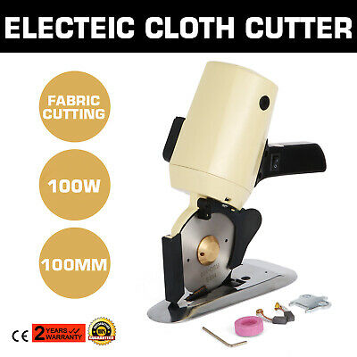 "100mm Electric Cloth Cutter Fabric Cutting Machine Industrial Scissors 4"" Blade"