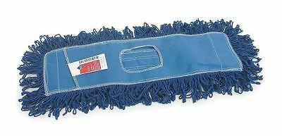 Cotton/Polyester Dust Mop, Looped, Blue TOUGH GUY 1TZC5