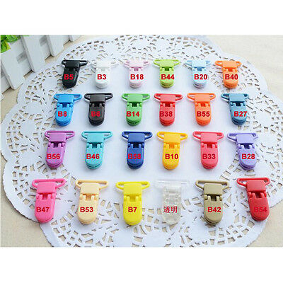5Pcs Plastic Suspender Soother Pacifiers Toy Bib Holder Nipples Dummy Clips hc