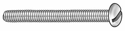 "50 pk #10-24 x 1/"" Pan Head Slotted Machine Screw ZORO SELECT 011024P100"
