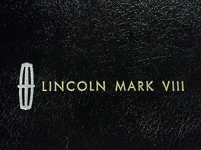 1993 Lincoln Mark VIII Deluxe Embossed Hardcover Brochure Dealership Special