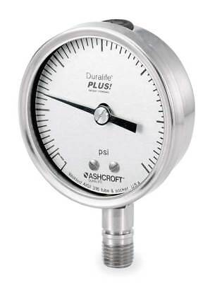 ASHCROFT Pressure Gauge,0 to 1500 psi,4-1//2In 451279SS04LXLL1500