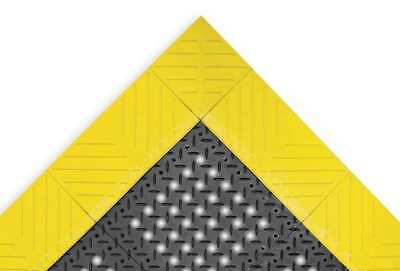 NOTRAX 620S0035BY Drainage Mat,Black wYlwBrdr,3 ft.x5 ft.