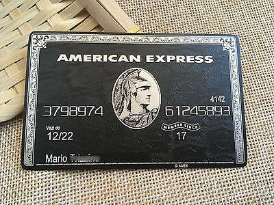 Customize American Express Credit Card Black Card AMEX METAL Personalize Gift 6B