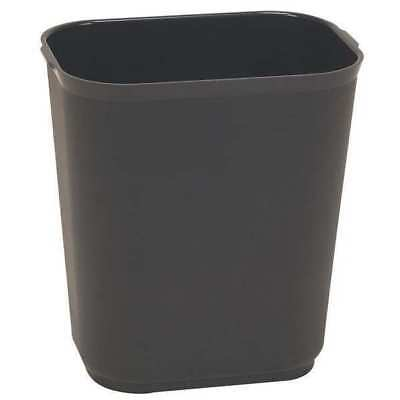 7 gal. Black Fiberglass Rectangular Fire-Rstnt Trash Can TOUGH GUY 4PGL7