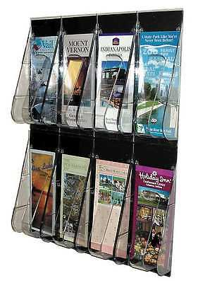 "Deflecto Leaflet Holder 8 Compartments, 18-1/4""W x 2-7/8""D Clear, 56201GR"