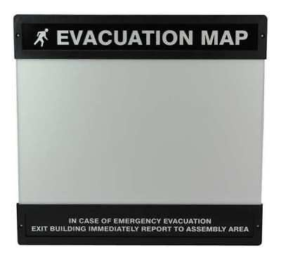 "Clear Evacuation Map Holder, Accuform Signs, DTA241, 11""Hx17""W"