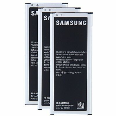 3 pcs New Original OEM SAMSUNG 3220 mAh BATTERY FOR GALAXY NOTE 4 EB-BN910BBUSTA