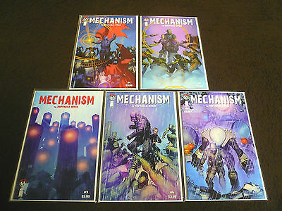 MECHANISM # 1 2 3 4 5 Image Comics FIRST PRINTS Complete Arc