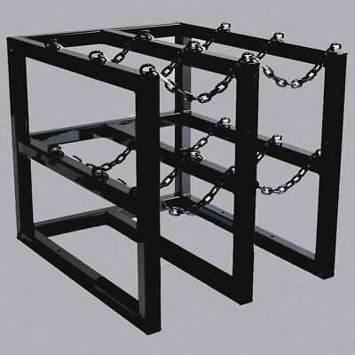 Gas Cylinder Rack, Black ,Jt Racking Systems, 3D2W