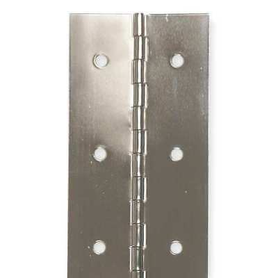 """ZORO SELECT 1JEJ6 3/4""""W x 48""""H Stainless Steel Continuous Hinge"""