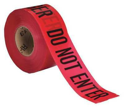 BRADY 102824 Barricade Tape, Red/Black, 1000 ft x 3 In