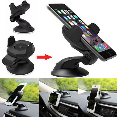 Universal 360° Rotating Car Windshield Mount Holder Stand Bracket For GPS Phone