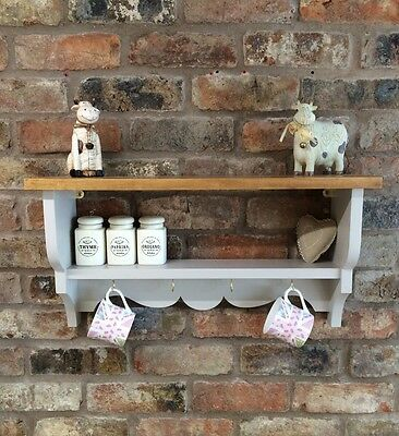 Shabby Chic/Country Kitchen/Cabinet/shelf Unit/wall Unit In Elephants Breath