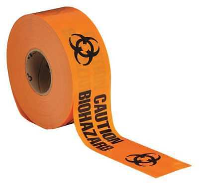 Barricade Tape,Orange/Black,1000ft x 3In BRADY 91448
